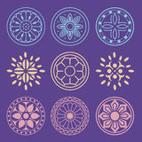 Flower and Plant Pattern Design. Korean traditional Pattern is a Stock Photos