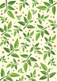 Flower and Plant Pattern Stock Photo