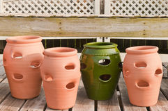 Flower or plant pots. Large ceramic and masonry pots for flowers and plants Royalty Free Stock Image