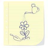 Flower Planting Doodle Illustration Stock Photos