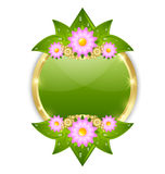 Flower plaque template Royalty Free Stock Photo