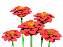 Flower plastic decoration Royalty Free Stock Photo