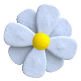 Flower of plasticine or clay Stock Photography