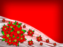 Flower Poinsettia Christmas Background. Flower Poinsettia and White fabric Background Royalty Free Stock Image
