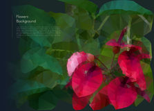 Flower polygonal mosaic. Vector eps 10 Royalty Free Stock Image