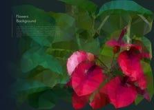 Flower polygonal mosaic. Vector eps 10 Royalty Free Stock Image