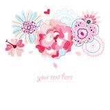 Flower Postcard Stock Image