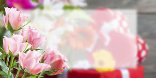 Flower Postcard witn Place for Your Text Royalty Free Stock Image