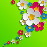 Flower poster Stock Images