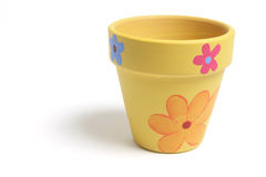 Flower Pot. On White Background stock photography