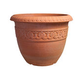 Flower Pot with clipping path Stock Image