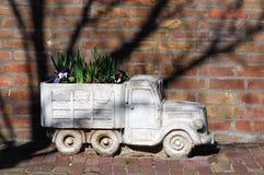 Flower pot. Truck like a flower pot stock photos