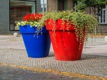 Flower pot. Two flowerpots  in Wittenberge (Germany Stock Photography