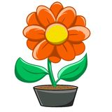 Flower-pot Royalty Free Stock Photography