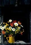 Flower Pot. A flower pot full of wild flowers Royalty Free Stock Photos