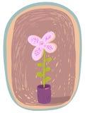 Flower pot. Nice flower pot in vector illustration Royalty Free Stock Photo