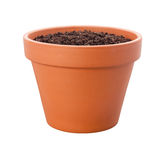 Flower Pot {with clipping path) Royalty Free Stock Images