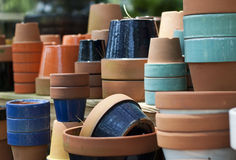 Flower Pot Collection Royalty Free Stock Photography