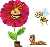 Flower pot and insects Stock Photography
