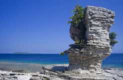 Flower Pot Island, Ontario. Scenic view from the Flower Pot Island, Tobermory, Ontario, Canada Stock Images