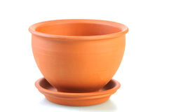 Flower pot. Isolated on white Stock Photo