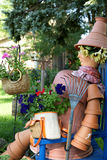 Flower Pot Lady Stock Images