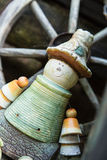 Flower pot man Royalty Free Stock Images