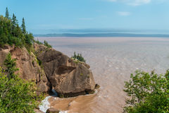 Flower Pot Rock formations at the Hopewell Rocks Stock Photo