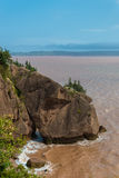 Flower Pot Rock formations at the Hopewell Rocks Royalty Free Stock Image