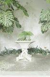 Flower Pot stone Stock Photo