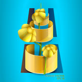 Flower in pot. Royalty Free Stock Photos