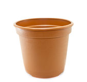 Flower pot on White Background Royalty Free Stock Image