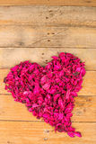 Flower potpurri heart Royalty Free Stock Photo
