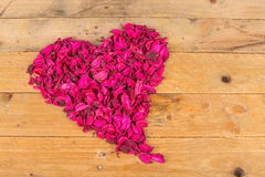 Flower potpurri heart still life Royalty Free Stock Images