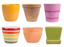 Flower pots Royalty Free Stock Photos