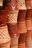 Flower pots. Ceramic flower pots royalty free stock photos