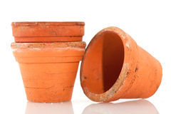 Flower pots for the garden Stock Photo
