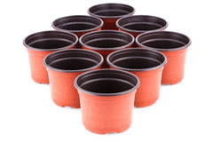 Flower pots Stock Photos