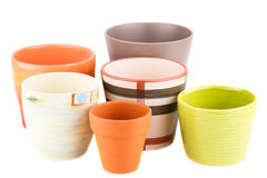Flower pots Stock Photography