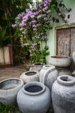 Flower pots. For landscape design Stock Photo
