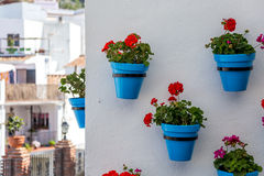 Flower pots in Mijas Royalty Free Stock Photography