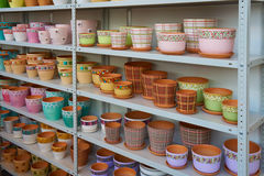 Flower pots Stock Photo