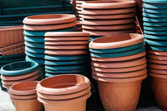 Flower Pots Royalty Free Stock Photography