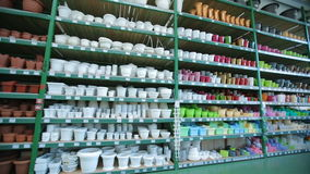 A flower pots at store stock footage