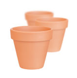 Flower pots. On white background Royalty Free Stock Images