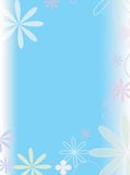 Flower power 1. Babyblue background with liight flowers Stock Image