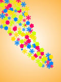 Flower power. Vector illustration of many colorful flowers Royalty Free Stock Photos