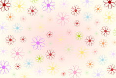 Flower power. Floral graphic in pastel colors royalty free illustration