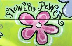 Flower Power. Sign painted on the side of a van royalty free illustration