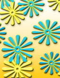 Flower Power. Bright flower artistic background royalty free illustration